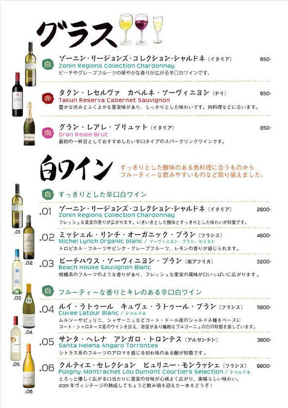 白ワイン・グラスワイン