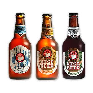 クラフトビールの王道!大人気常陸野ネストビール(茨城)ホワイトエール・アンバーエール・だいだいエール(630円~680円)
