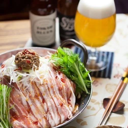 豚バラ胡麻味噌坦々鍋(2,960円)