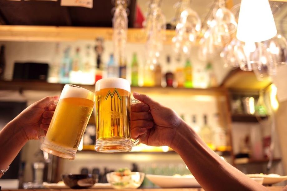 生ビール(290円)