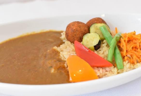 ベシタブルカレー ドリンク付き Vegetable Curry w/drink (coffee or tea)