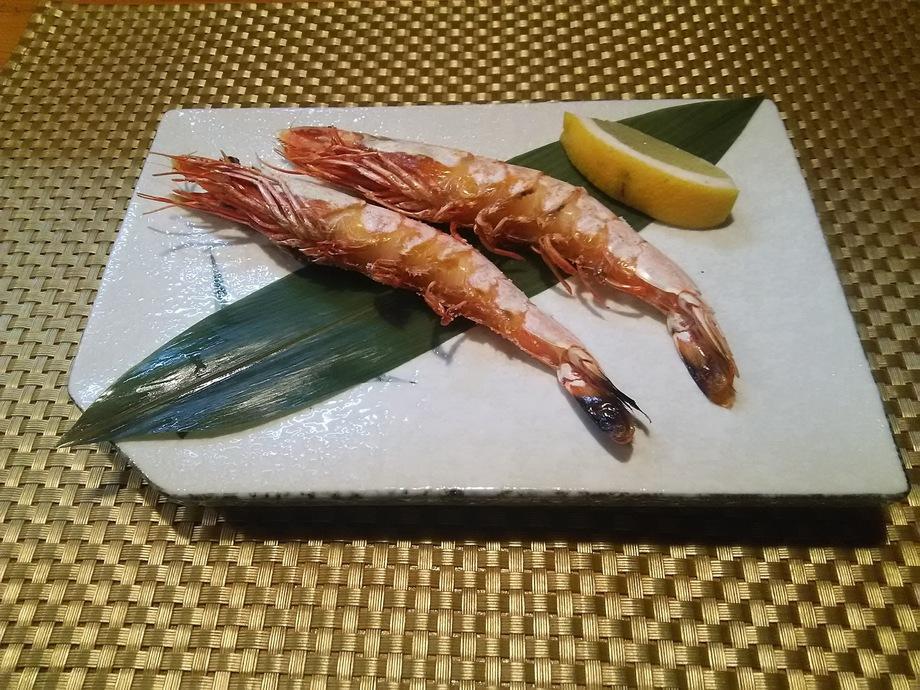 車海老の塩焼き(900円)