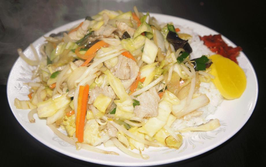 野菜炒めライス(780円)