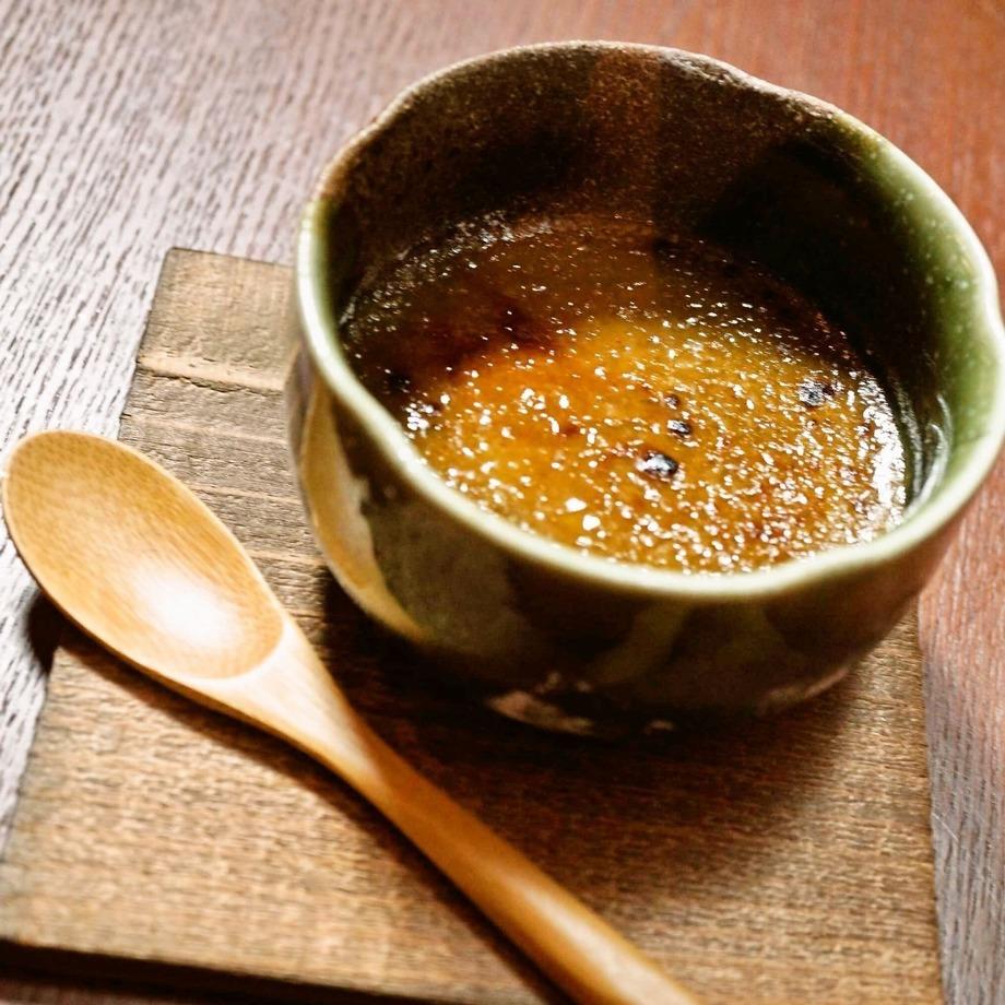 ほうじ茶のクリームブリュレ(500円)