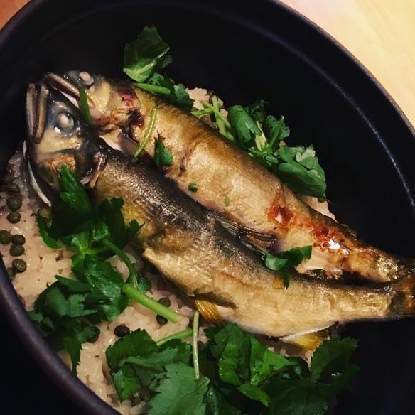 カキと、ホタテとうもろこしと枝豆炊き込み御飯 海老のお味噌汁付き