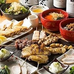 【オススメ★】〆の丼ものまで★ 全11品 お得な焼鳥コース(2,800円)