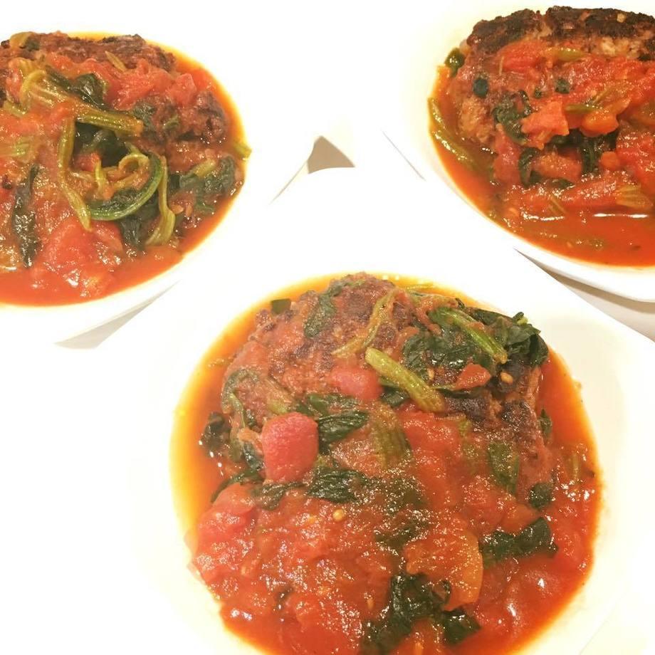 ハンバーグ トマト煮(500)
