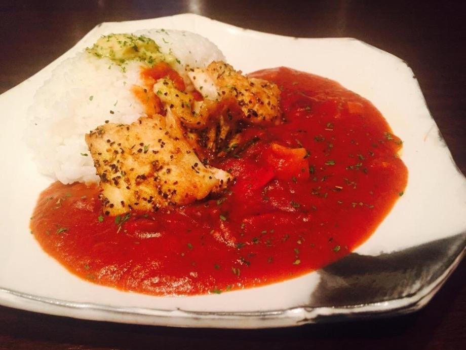 鶏と野菜のトマトカレー(800yen)