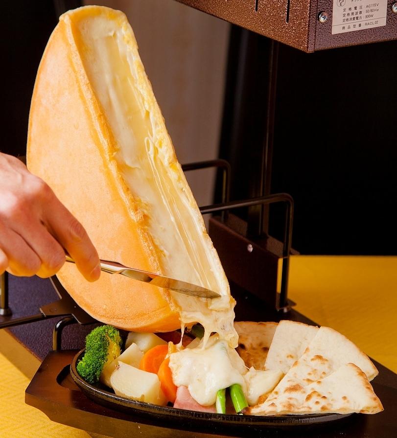 彩り野菜のチーズラクレット