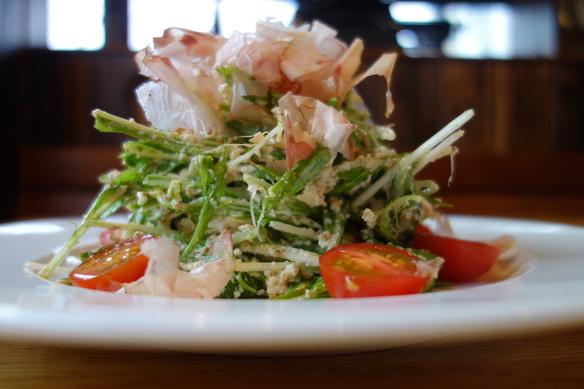 仙波豆腐と水菜の和風サラダ