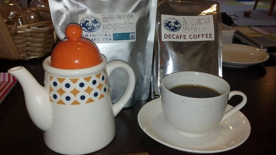 カフェインなしコーヒー、紅茶