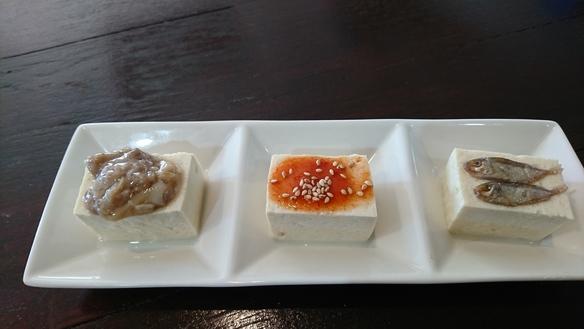 島豆腐のやっこ3種盛り