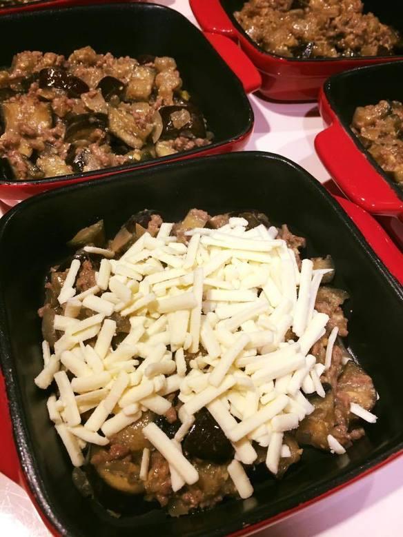 ナスと挽肉みそチーズ焼