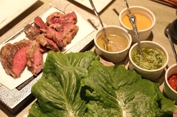 ロメインレタスと食べるソース肉セット