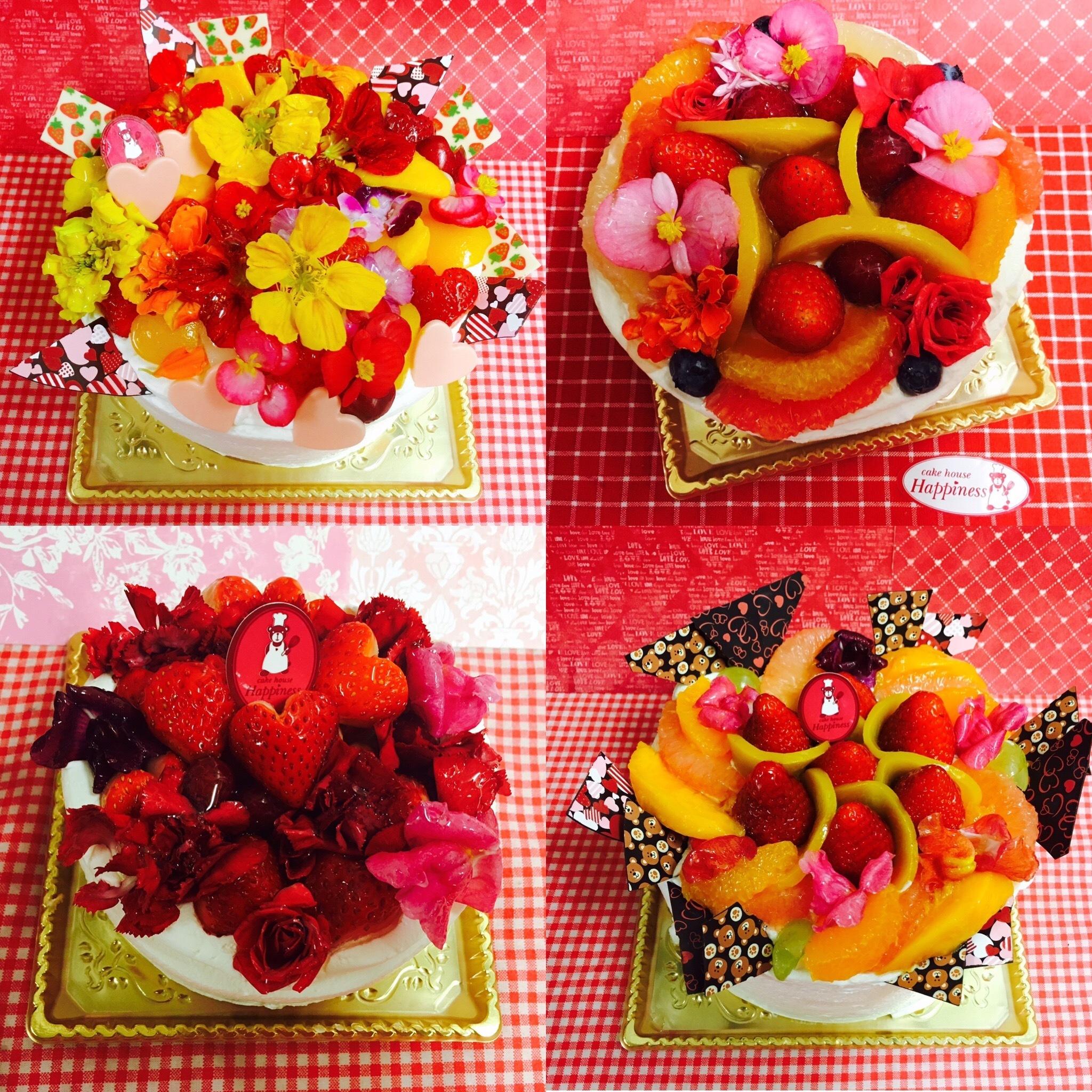 食用花トッピングのデコレーションケーキ♪母の日のプレゼント用にご予約承り中です♪