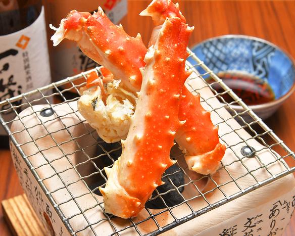 【北海道直送】タラバガニの炭火炙り