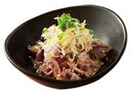 ねぎ塩ダレのコリコリ砂肝(290円)