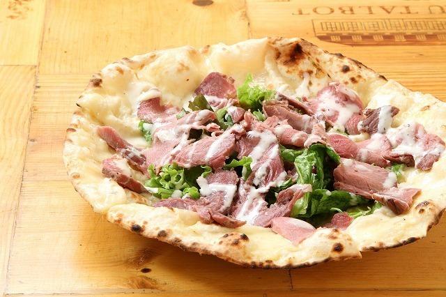 【人気No.3】 ローストビーフの肉Pizza(1000)