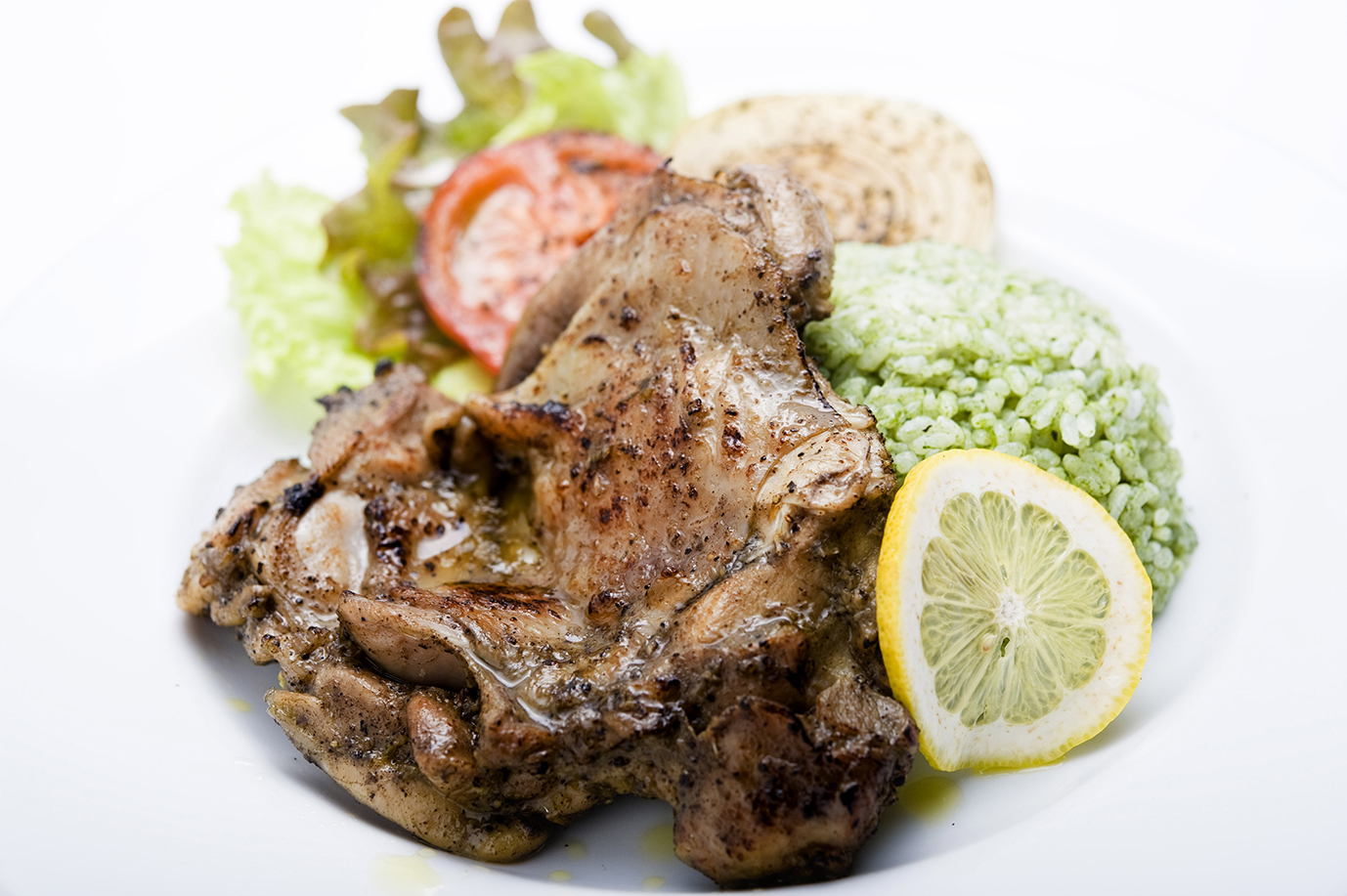 BROOK オリジナルジャークチキン ポパイライス付き BROOK Original Jerk Chicken with Popeye Garlic Rice