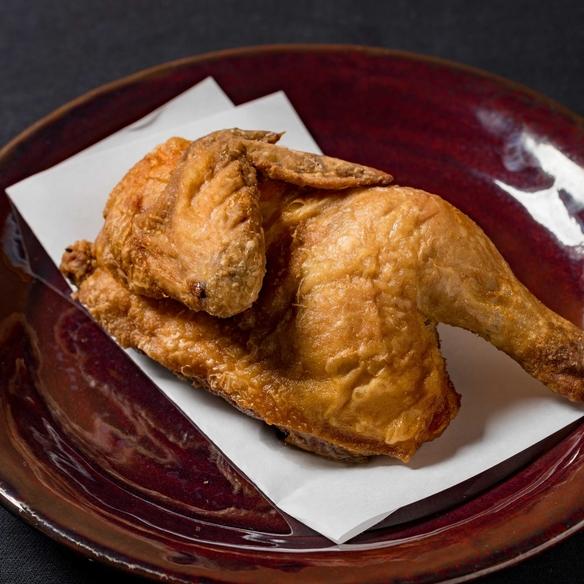 ひな鶏半身揚げ