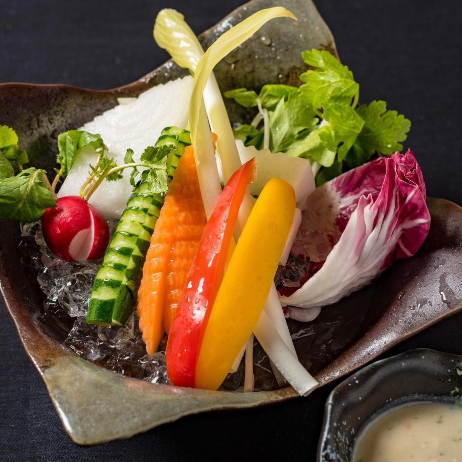 新鮮野菜 ※写真は…SHUNのかぶりつき野菜 和風バーニャソース