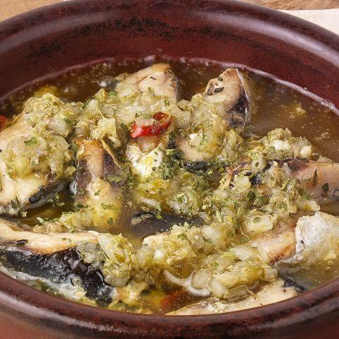 秋刀魚のアヒージョ