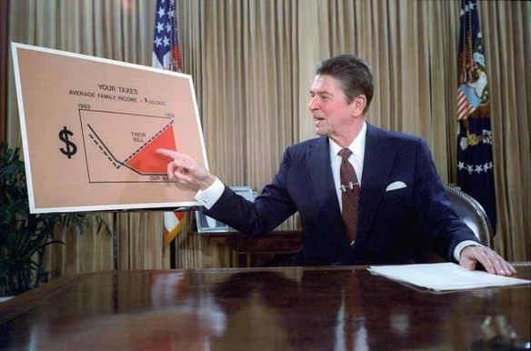 Retina ronald reagan televised address from the oval office  outlining plan for tax reduction legislation july 1981