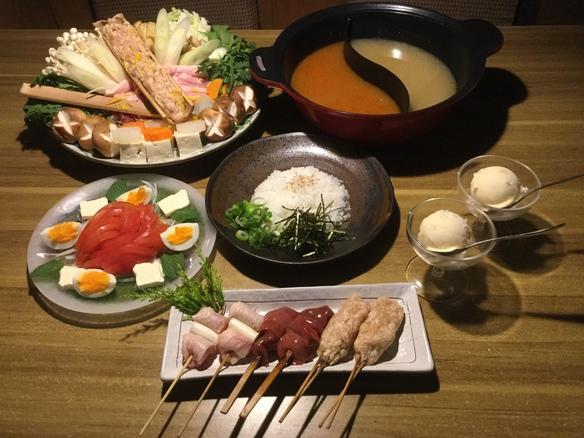 豚バラちゃんこ鍋コース (1人前 ¥ 2500 - )