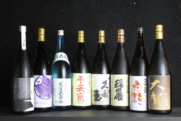 各蔵元の極上な日本酒を一升瓶ごとキープできます。