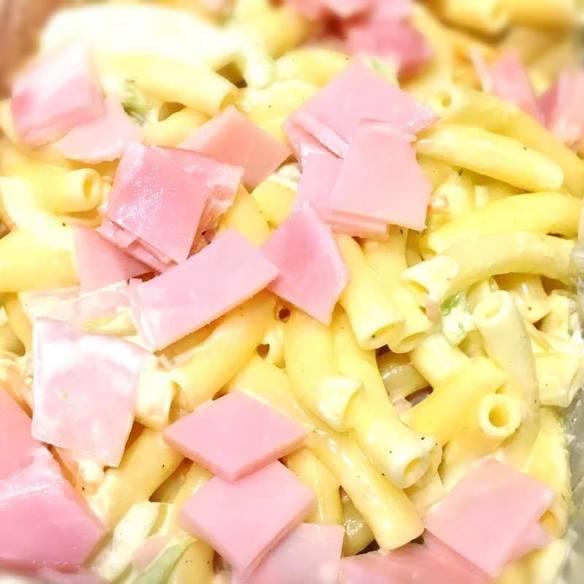 タコの酢の物にマカロニサラダ!w