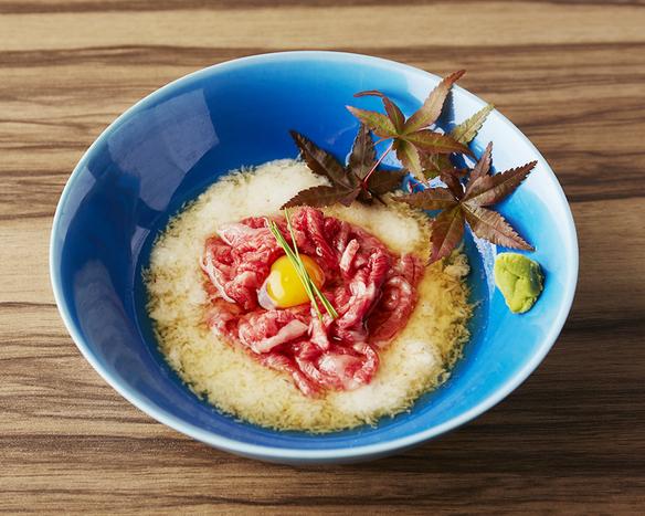 冷製・赤身素麺ととろろです。