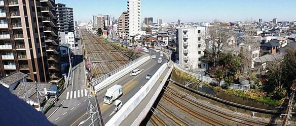 ポンテの入っているビルの屋上から、浦和橋を一枚!写真の上が北浦和駅です♪
