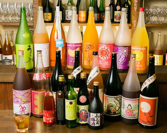 全国から取り寄せた50種類の梅酒