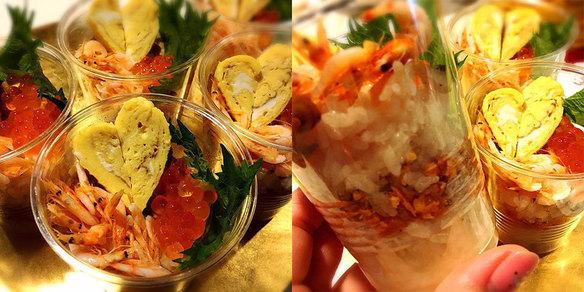 今日はひな祭り(*´∀`) ちらし寿司だぁよー(*´∀`) 限定5、お早めに♥️