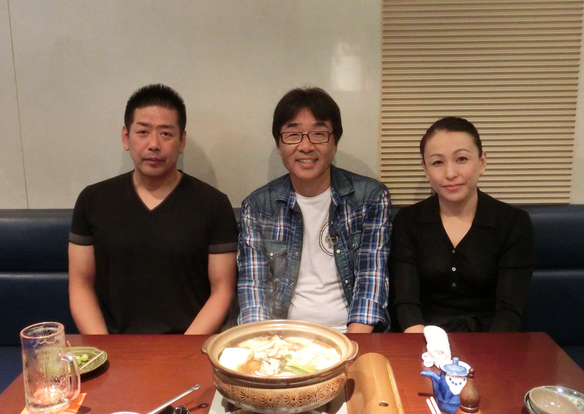 原田伸郎さんがご来店。(テレビ取材でした)