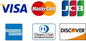 各種クレジットカードご使用になれます。