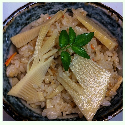 季節限定 筍ご飯 ¥370円