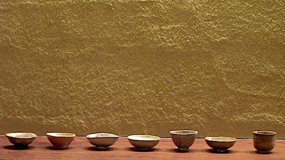 陶芸家、岸野寛さんの盃。