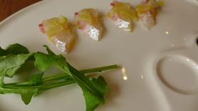 鯛フェア限定 「海援鯛のカルパッチョ」 780円