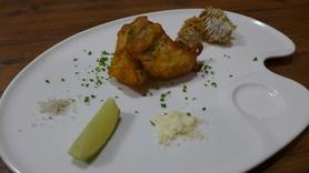 鯛フェア限定 「海援鯛のフリット&松笠揚げ ~フレッシュライムとゲマンドの塩~」 680円