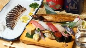 江戸前寿司から干物の炭火焼、定番居酒屋まで取りそろえております!