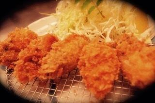 人気の定番メニュー。広島産牡蠣フライ御膳  1480円