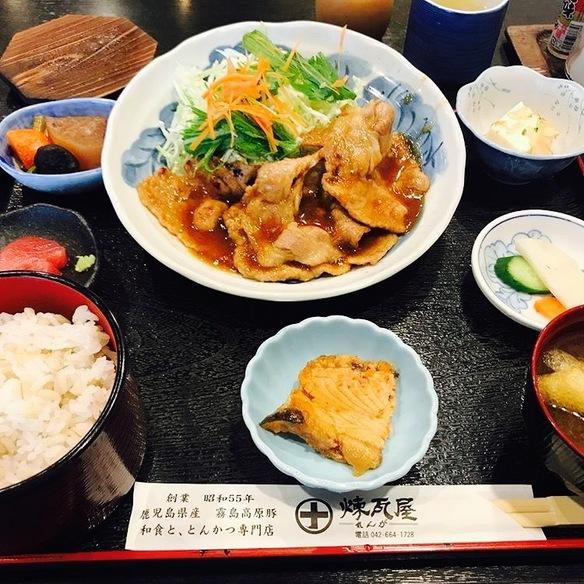生姜焼き御膳  130g  平日のランチタイムは1080円、通常は1180円