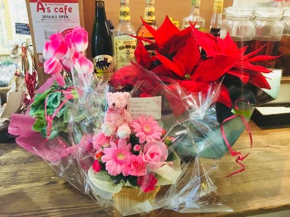 11月18日 は お菓子製造をさせていただいている 私こと、遠藤愛里のHappy Birthday♪沢山のお花、ケーキありがとうございます♡