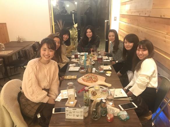 地元のメンバー集まって女子会(*≧∀≦*)