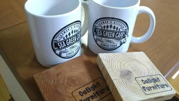 オリジナルマグカップ&手作りコースター