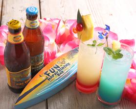 南国カクテルと世界各国のビールは常時10種以上