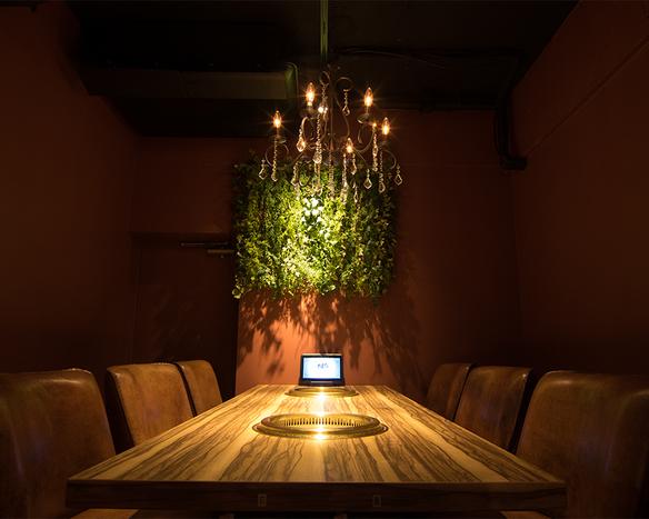 個室は会食や接待などにもおすすめ。