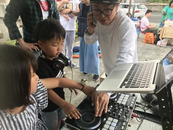 シーグリまつり DJ体験 子供達はノリノリ♫