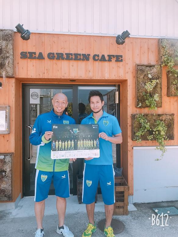 べルマーレフットサルクラブのジャッピーニャ選手と久光選手が来てくれました。